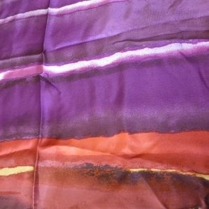 COLDWATER CREEK PAINTED PURE SILK SCARF